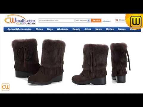 Rabbit Fur Snow Boots for Women CW332103 www.cwmalls.com