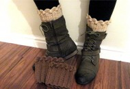 How to crochet a boot cuff, sock topper for boots