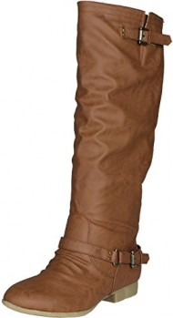 Top Moda COCO-1 Women's Knee High Riding Boot, Color:TAN, Size:10