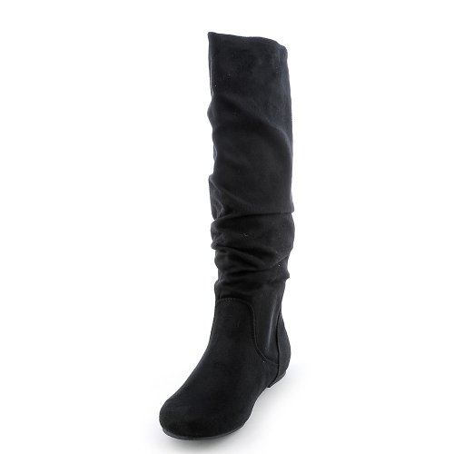Soda Womens Zulu-S Boot – Black Suede Size 8.5