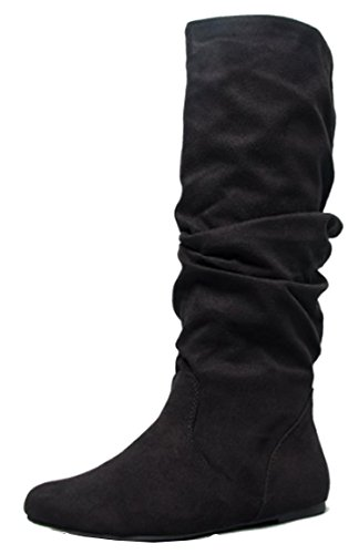 Soda Womens Zulu-S Boot – Black Suede Size 7