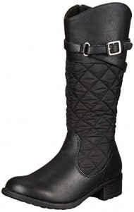 Rachel Shoes Flagstaff 2 Quilted Riding Boot (Little Kid/Big Kid), Black, 1 M US Little Kid