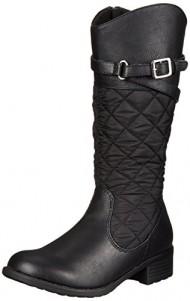 Rachel Shoes Flagstaff 2 Quilted Riding Boot (Little Kid/Big Kid), Black, 1 M US Little Kid