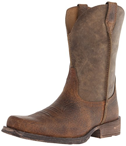 Ariat Men's Rambler Wide Square Toe Western Boot, Earth/Brown Bomber, 9 M US