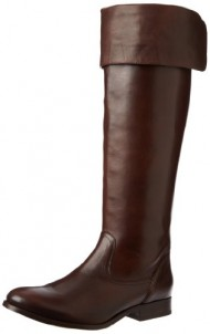 FRYE Women's Melissa Over the Knee Boot, Dark Brown Smooth Vintage Leather, 11 M US
