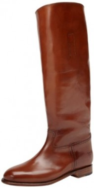 FRYE Women's Abigail Riding Polished Boot, Whiskey, 9 M US