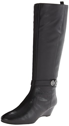 Bandolino Women's Adanna Wide Calf Leather Riding Boot,Black,9.5 M US