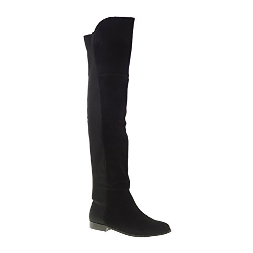 Chinese Laundry Women's Riley Split Suede Riding Boot, Black, 8.5 M US