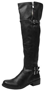 BCBGeneration Women's BG Krush Harness Boot, Black, 9.5 M US