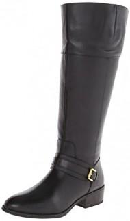Lauren Ralph Lauren Women's Maritza Wide Calf Riding Boot, Black, 5.5 B US