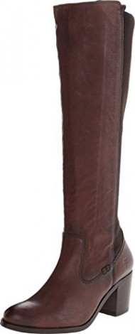FRYE Women's Janis Gore Tall Riding Boot, Dark Brown, 11 M US