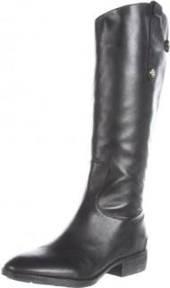 Sam Edelman Women's Penny Riding Boot, Black, 6 M US