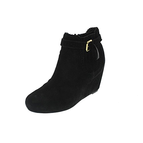 DV by Dolce Vita Women's Parkers Bootie,Black Suede,8.5 M US