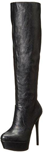 Steve Madden Women's Animall Slouch Boot, Black/Multi, 8.5 M US