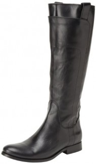 FRYE Women's Melissa Tall Riding, Black Smooth Vintage Leather, 8.5 M US