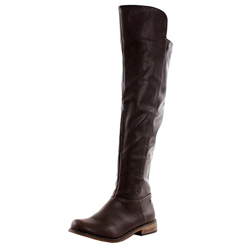 Breckelles TENESEE-17 Womens Over the Knee High Riding Boot,7 B(M) US,Brown