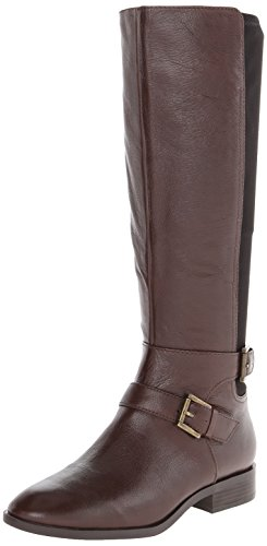 Nine West Women's Bridge Riding Boot,Dark Brown/Black,9.5 M US