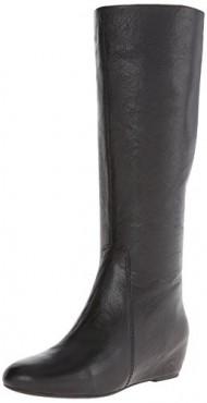 Nine West Women's Myrtle Leather Riding Boot,Black,7 M US