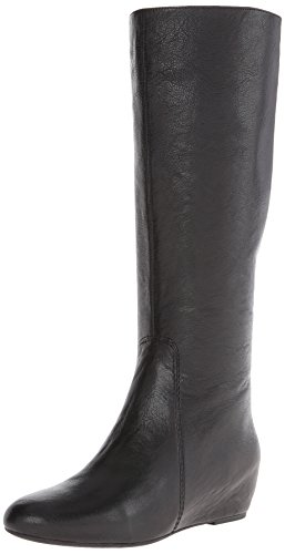 Nine West Women's Myrtle Leather Riding Boot,Black,7 M US