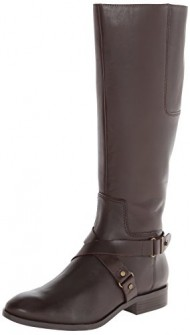 Nine West Women's Blogger Harness Boot,Dark Brown,9 M US