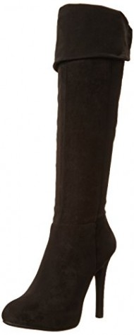 Jessica Simpson Women's Audrey Dress Boot, Black, 8 M US