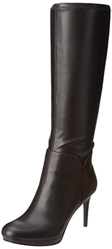 Nine West Women's Enuck Riding Boot Boot,Black,9 M US