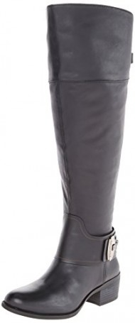 Vince Camuto Women's Beatrix-Wide Harness Boot: Wide Calf, Black, 6 M US