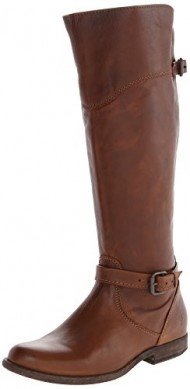 FRYE Women's Phillip Riding Boot, Cognac Soft Vintage Leather, 7 M US