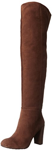 Nine West Women's Snowfall Suede Slouch Boot, Brown, 7.5 M US