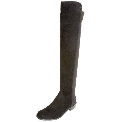Stuart Weitzman Women's 5050 Over-the-Knee Boot,Black Suede,8 M US