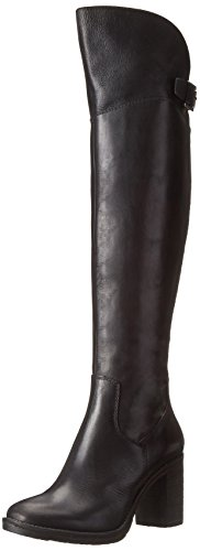 Donald J Pliner Women's Taria Over-the-Knee Boot, Black Calf, 8.5 M US