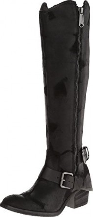 Donald J Pliner Women's Dela Riding Boot, Black Vintage Suede, 11 M US