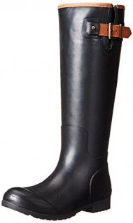 Sperry Top-Sider Women's Walker Haze Rain Boot, Black, 6 M US