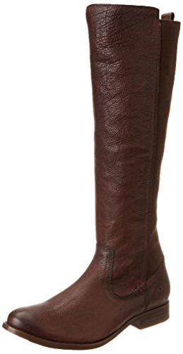 FRYE Women's Molly Gore Tall Riding Boot, Dark Brown, 5.5 M US