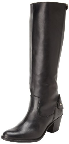 FRYE Women's Jackie Zip Tall Boot, Black, 8 M US