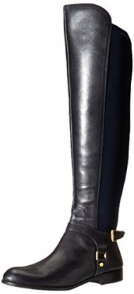Franco Sarto Women's Mast Motorcycle Boot, Dark Blue, 9 M US