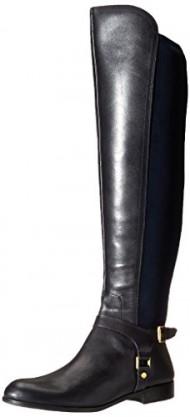 Franco Sarto Women's Mast Motorcycle Boot, Dark Blue, 9 M US