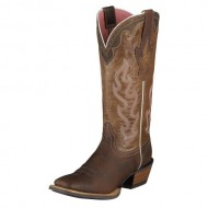 Ariat Women's Crossfire Caliente Cowgirl Boot Wide Square Toe Brown 7 M US