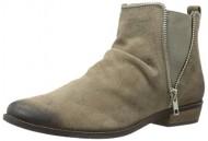 Naughty Monkey Women's Zip Dee Doo Chelsea Boot, Taupe, 8.5 M US