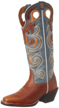 Tony Lama Women's Sunburst RR2010l Boot,Copper/Sky,9 B US