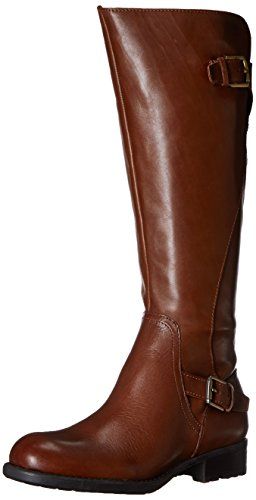 Franco Sarto Women's Perk Motorcycle Boot, Brown/Acorn, 7.5 M US