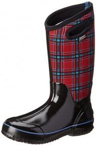 Bogs Women's Classic Tall Winter Plaid Waterproof Winter & Rain Boot,Red Multi,11 M US