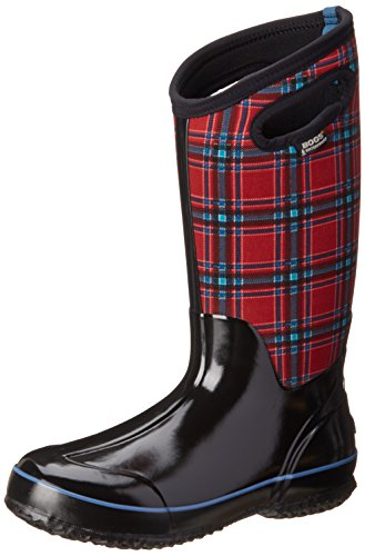Bogs Women's Classic Tall Winter Plaid Waterproof Winter & Rain Boot,Red Multi,11 M US