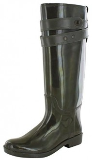 Coach Talia Women's Waterproof Rubber Rainboots Boots Green Size 10