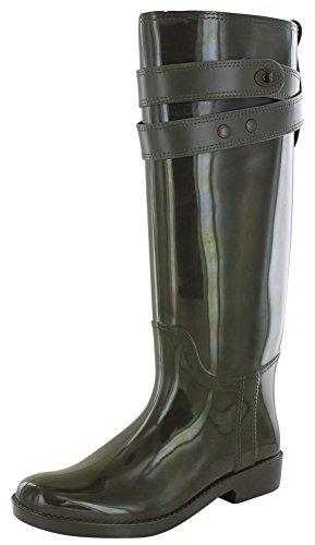 Coach Talia Women's Waterproof Rubber Rainboots Boots Green Size 10
