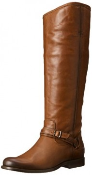 FRYE Women's Phillip Ring Tall Harness Boot, Brown, 5.5 M US