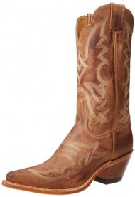 "Justin Boots Women's U.S.A. Bent Rail Collection 12″ Boot Narrow Square Toe Leather Outsole,Tan ""America"",7.5 B US"