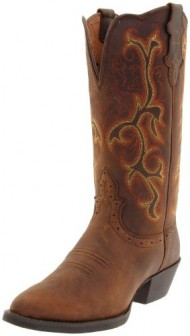 Justin Boots Women's Stampede Collection 12″ Boot Narrow Rounded Toe Western Rubber Outsole,Sorrel Apache,9 B US