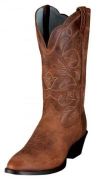 Ariat Womens Heritage Western R Toe Boot, Russet Rebel, 8.5 C US