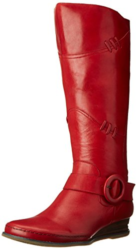 Miz Mooz Women's Priya Riding Boot, Red, 7 M US